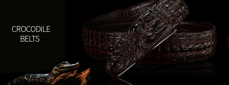 Leather Crocodile Belts