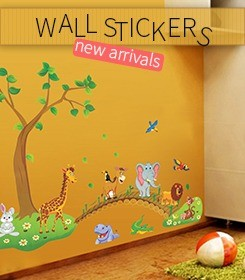 online shopping wall stickers