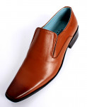Mustard Leather Stylish Slip On Formal Shoes LC-534