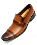 Mustard Brown Leather Formal Shoes LC-512B