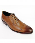 Mustard Brown All Leather Brock Shoes LC-361