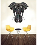 Elephant Pattern Stylish Design Wall Decal BNS-436