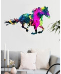 Varicolored Horse Pattern Design Wall Decal BNS-425