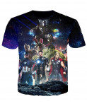 YOUTHUP 3D All Avengers  T-Shirt