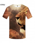 KYKU Lion Canvas Polyester Animal Spandex 3d T Shirts Design 11