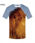 KYKU Lion Canvas Polyester Animal Spandex 3d T Shirts Design 10