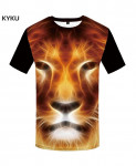 KYKU Lion Canvas Polyester Animal Spandex 3d T Shirts Design 9