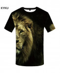 KYKU Lion Canvas Polyester Animal Spandex 3d T Shirts Design 6