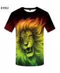 KYKU Lion Canvas Polyester Animal Spandex 3d T Shirts Design 1