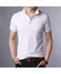 Langbeeyar White Cotton Breathable Solid T Shirt