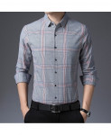Langbeeyar Light Gray Broadcloth Cotton Shirt