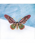 Muylinda Pink Butterfly Zinc Alloy Brooches