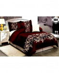 3D Wine Floral Stylish Cotton Bedsheet SN-884