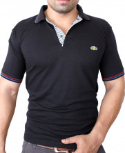 Lacoste Logo Black Polo-Shirt