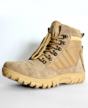 Brown Tactical Stitched Design Boots RF-2013