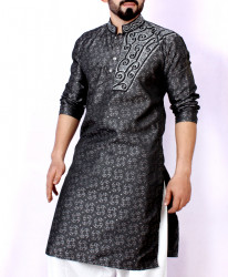 Black Embroidered Stylish Kurta ARK-951