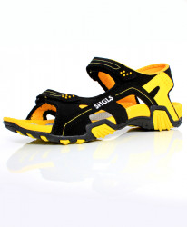 Yellow Black Dual Strap Stylish Sandal SC-395