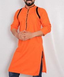 Orange Embroidered Stylish Kurta ARK-980