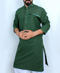 Forest Green Stylish Design Kurta Shalwar SJL-042