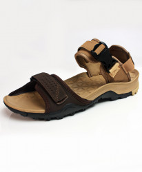 Peach Brown Stitched Design Casual Sandal DR-812