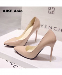 Apricot High Heels Pumps Thin Heel Classic Pump Shoes