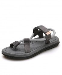 Grey hollow Breathable Clip Toe Dual-purpose Sandal