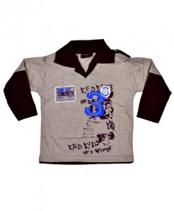 Dynamic 3 Collar Kids Full Sleeve T-Shirt