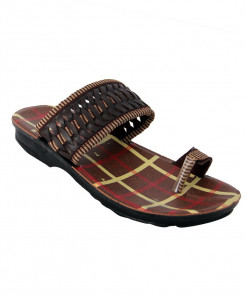 Brown Toe Open Casual Slipper LS-068