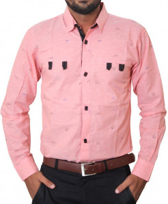 Pink Black Button Stylish Casual Shirt