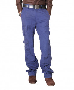 Blue 8 Pocket Stylish Cargo Trouser