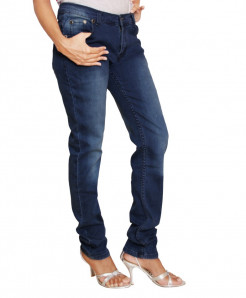 Stylish Blue Shaded Ladies Jeans