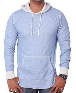 All-Son Blue Pullover Hoodie Sweatshirt