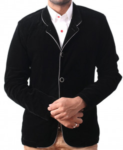 Black Velvet Stylish Casual Blazer BM-06