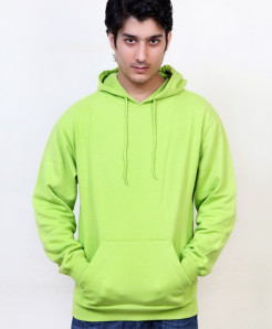 Outfitter Parrot Green Plain Fashion Hoodie