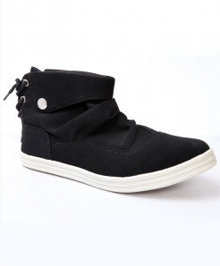 Black Back Laces Casual Shoes Cs-1114