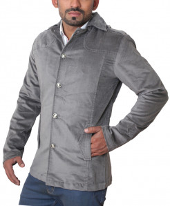 Silver Grey Velvet Casual Collar Modern Style Fashion Blazer