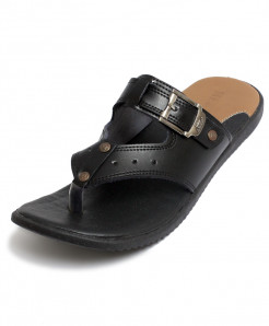Black Side Buckle Casual Slipper