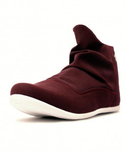Stylish Maroonish Brown Side Zipper Casual Shoes CS-1717