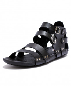 Black High Ankle Straps Casual Sandal LS-421