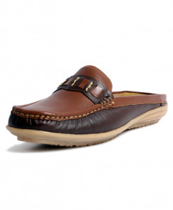 Brown Loafer Style Womens Casual Slipper