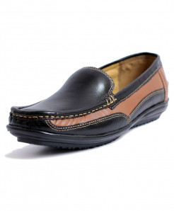 Black Mustard Loafer Style Womens Casual Shoes