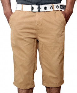 Khaki Stylish Mens Cotton Short