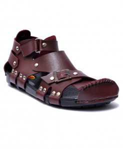 Maroon High Ankle Straps Casual Sandal RF-1001