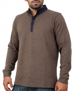 Chocolate Brown Decent Stylish Polo Shirt QZS-994