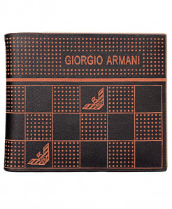 GA Dotted Brown Leather Wallet SF-1929