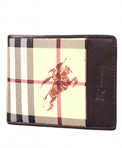 BRB Brown Checkered Leather Wallet SF-1935