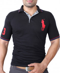 Big Pony Logo Black Polo-Shirt