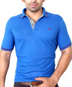Tommy Hilfiger Logo Blue Polo-Shirt