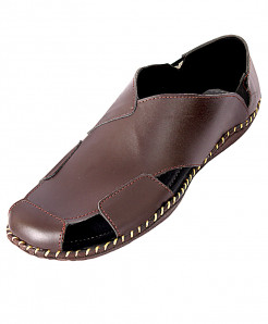Brown Arabic Style Casual Sandal