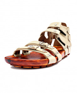 Beige Stylish High Ankle Double Strap Casual Sandal RF-1020